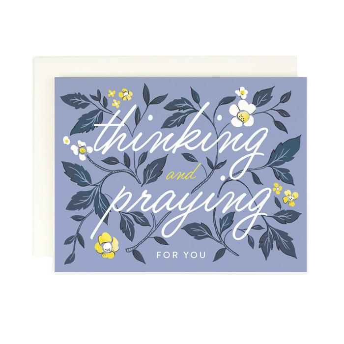 Thinking And Praying Card - All She Wrote
