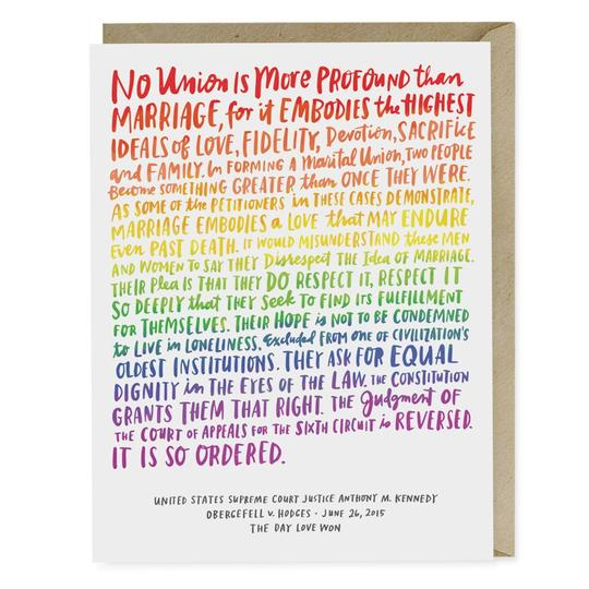 Love Wins Wedding Card - All She Wrote