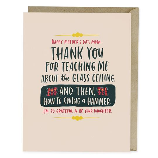 Glass Ceiling Card - All She Wrote