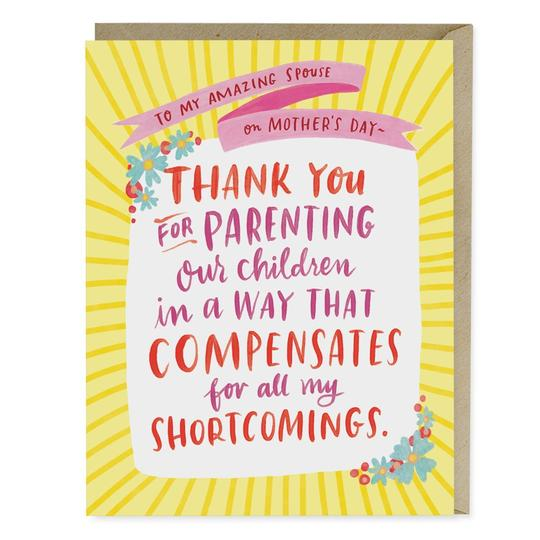 Parenting Shortcomings Card - All She Wrote