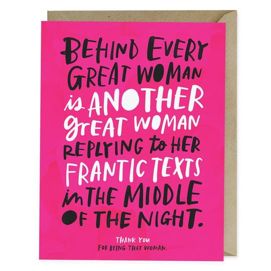Every Great Woman Card - All She Wrote