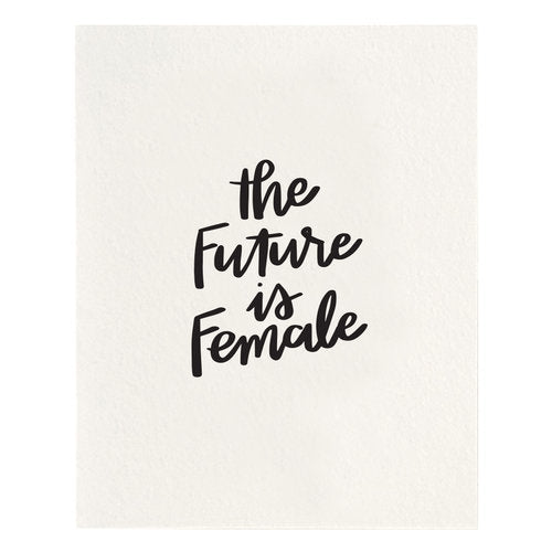 The Future is Female Art Print - All She Wrote