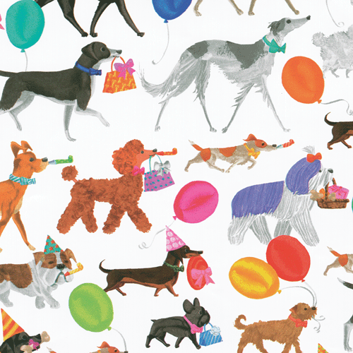 Caspari Winston & Friends Gift Wrap - All She Wrote