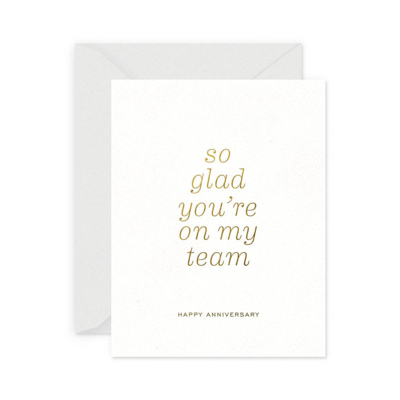 Team Anniversary Card - All She Wrote