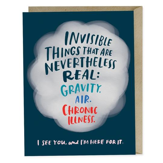 Invisible Illness Card - All She Wrote