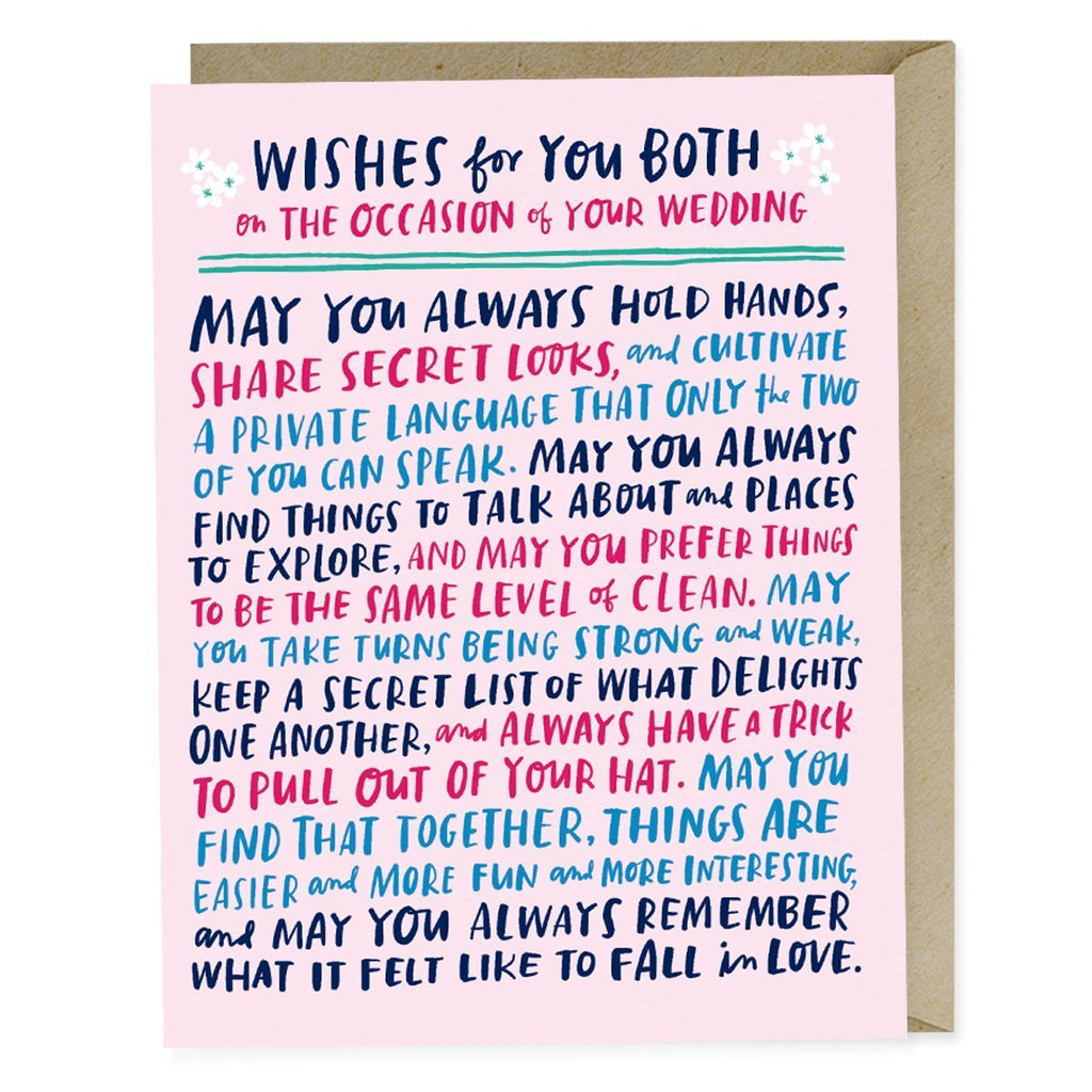 Wishes For Your Wedding Card - All She Wrote