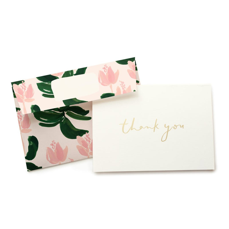 Medinilla Thank You Boxed Stationery