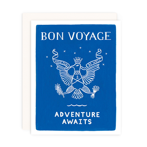 Bon Voyage Card - All She Wrote