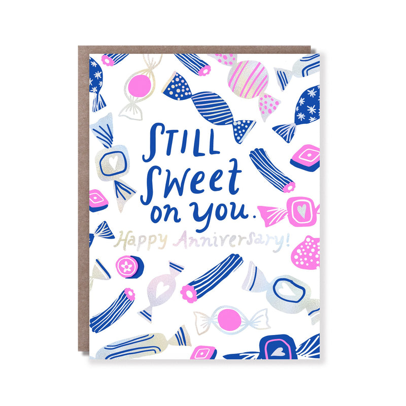 Sweet On You Anniversary Card - All She Wrote