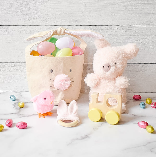 Small Pink Easter Basket Bundle