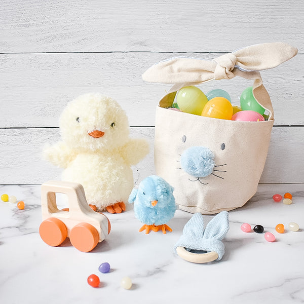 Small Blue Easter Basket Bundle