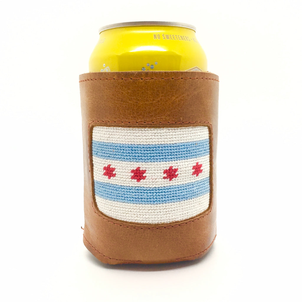 Chicago Flag Can Cooler - All She Wrote