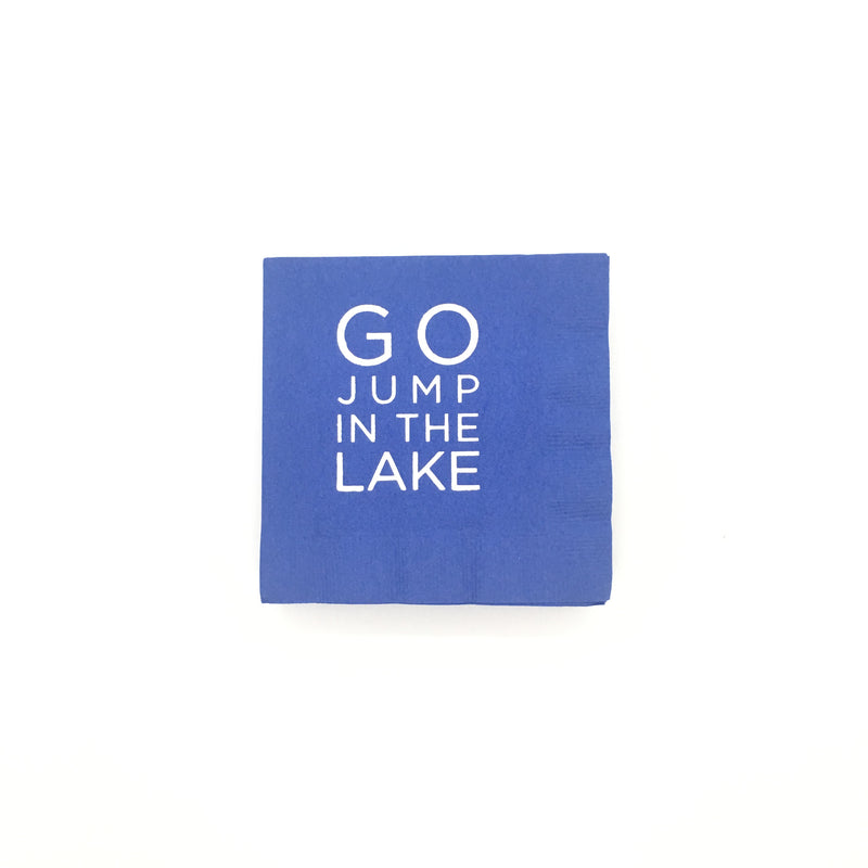 Go Jump in the Lake Napkins