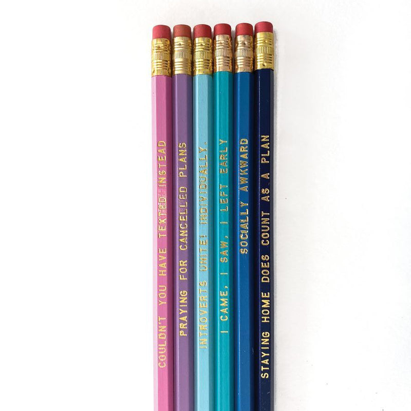 Introvert Pencil Set