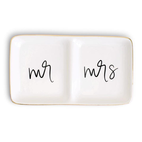 Mr and Mrs Jewelry Dish - All She Wrote