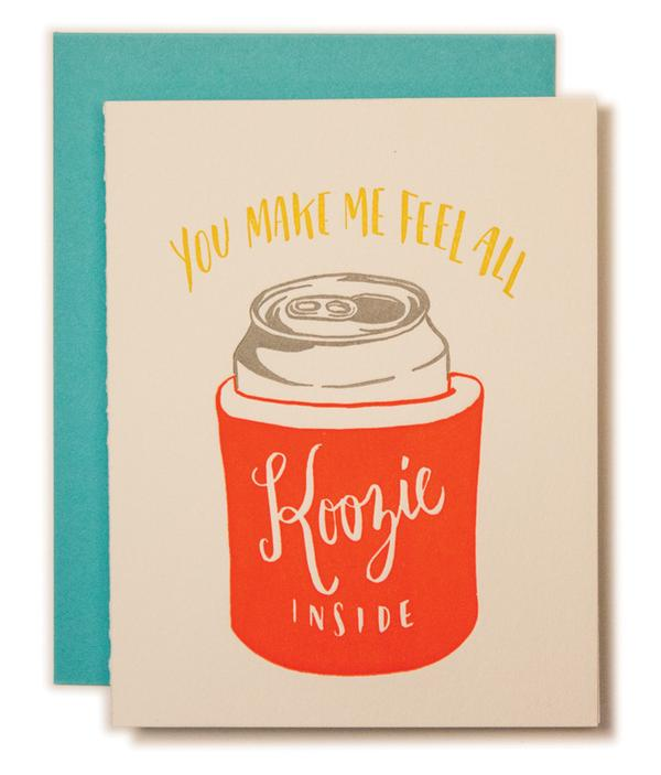 All Koozie Inside Card - All She Wrote