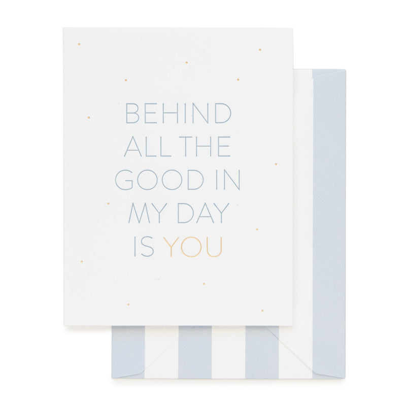 Behind All The Good Card - All She Wrote
