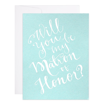 Matron Of Honor Card - All She Wrote