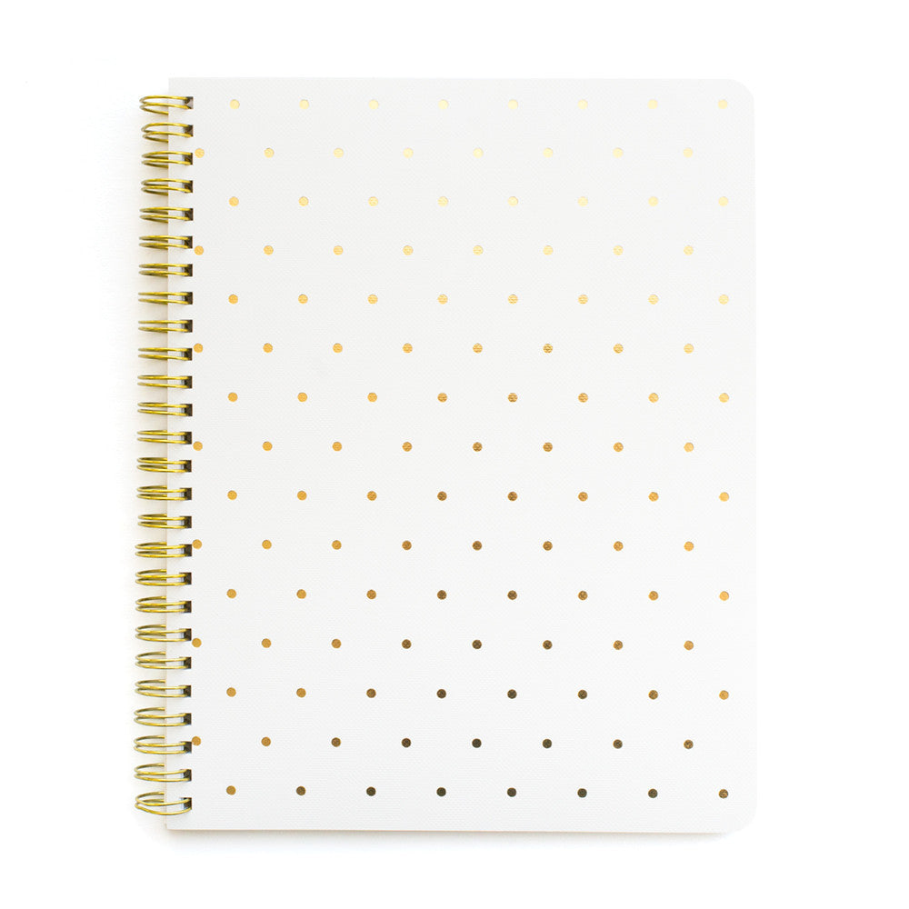 White Perfect Dot Notebook - All She Wrote