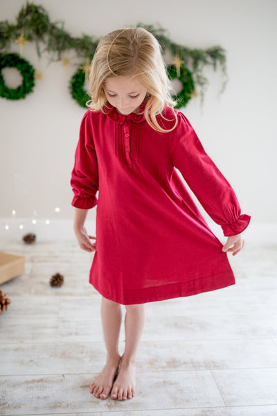 Petite Plume Red Flannel Nightgown