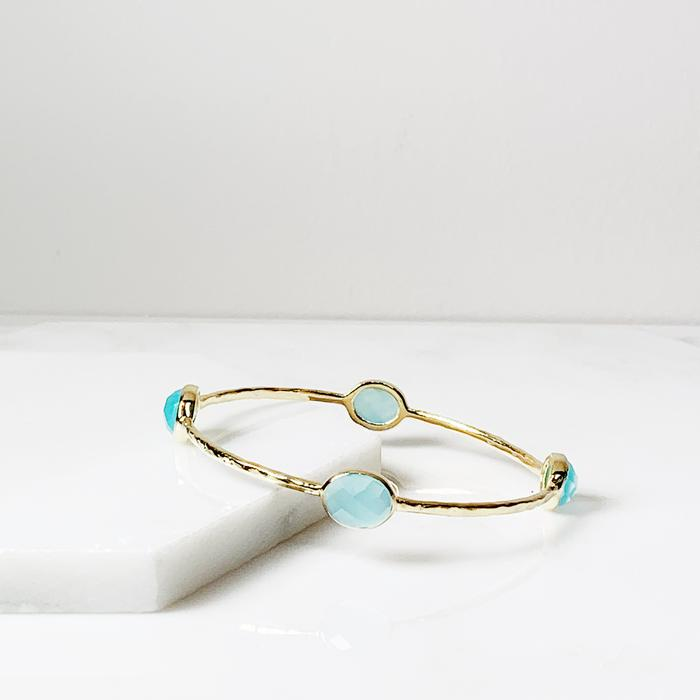 Aqua Eleanor Bangle Bracelet