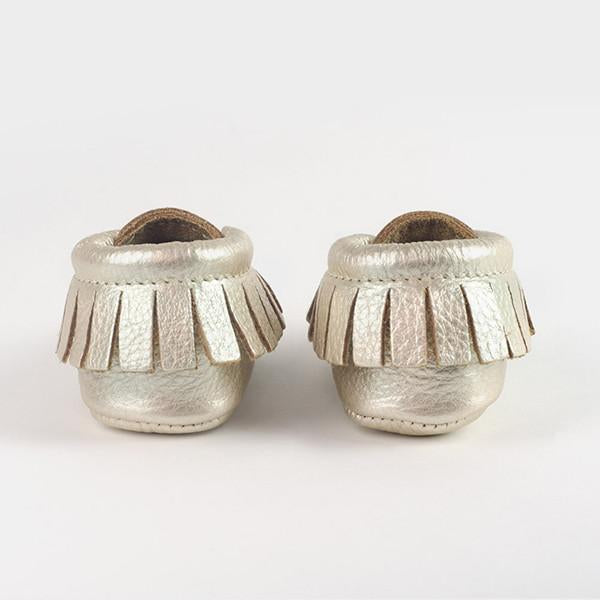 Freshly Picked Platinum Moccasins