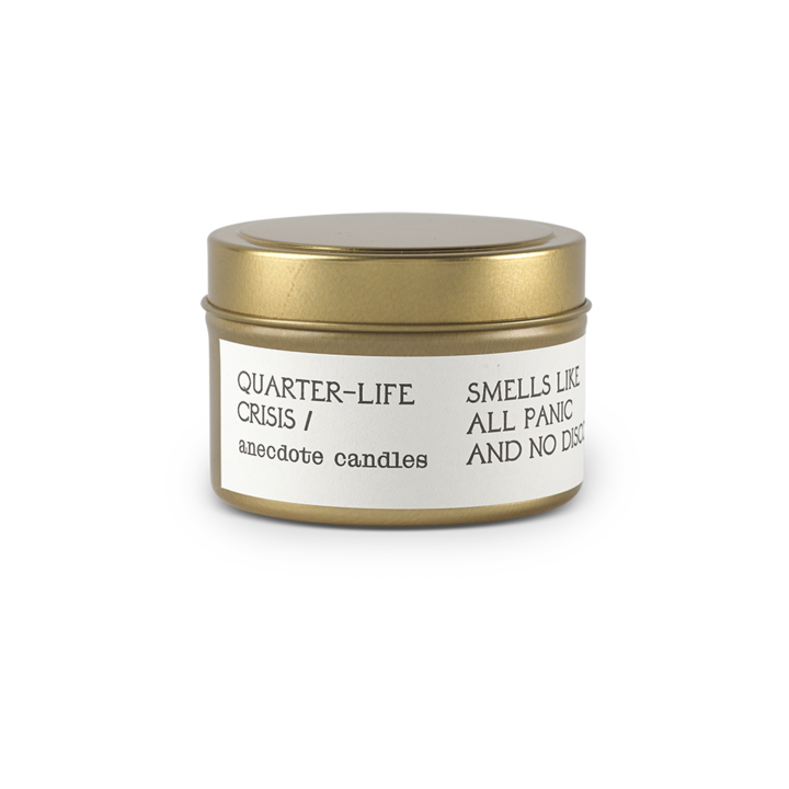 Quarter Life Crisis Travel Tin Candle - All She Wrote