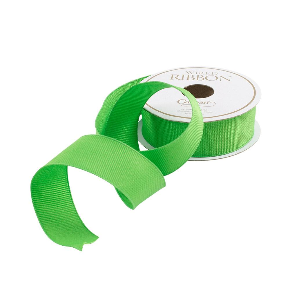 Lime Green Grosgrain Ribbon - All She Wrote