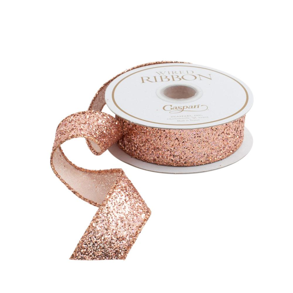 Rose Gold Glitter Ribbon - All She Wrote