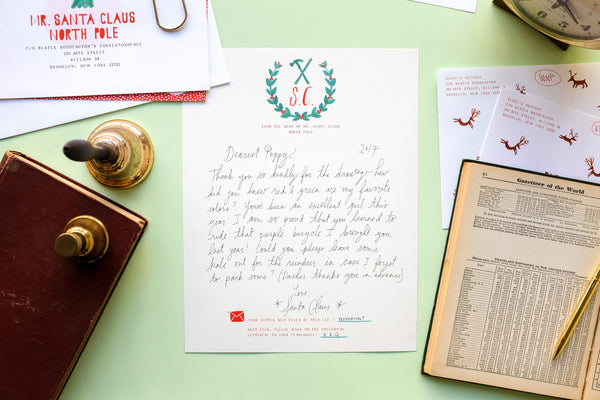 Mr. Boddington's Santa Writes Back Stationery Set