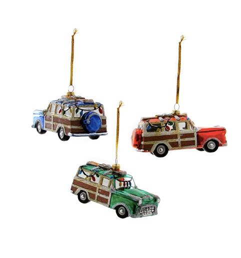 Holiday Car Ornament - Assorted