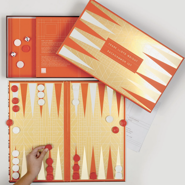 Frank Lloyd Wright Backgammon Set - All She Wrote