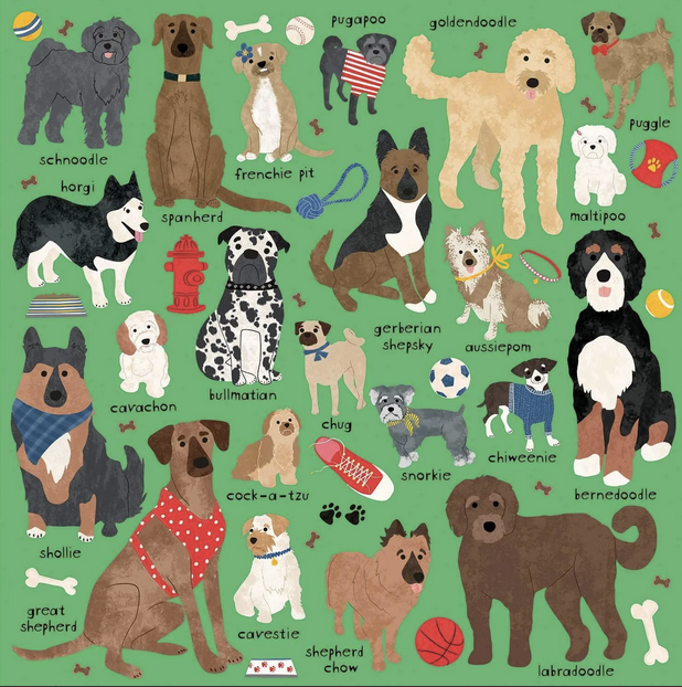 Doodle Dogs Puzzle - All She Wrote