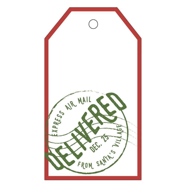 Delivered Gift Tags - All She Wrote