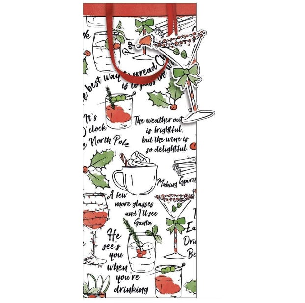 Holiday Spirits Bottle Bag - All She Wrote