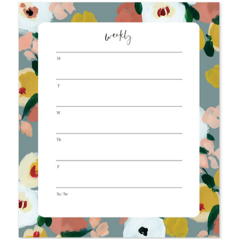 Dusk Florals Agenda Notepad - All She Wrote