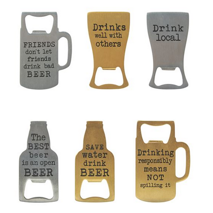 Assorted Bottle Openers - All She Wrote