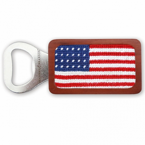 American Flag Bottle Opener - All She Wrote