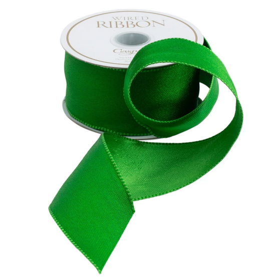 Green Satin Ribbon - All She Wrote