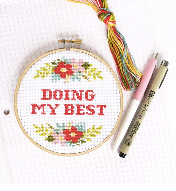 Doing My Best Cross Stitch Kit - All She Wrote
