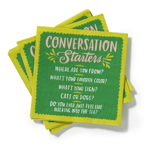 Conversation Starters Napkins - All She Wrote