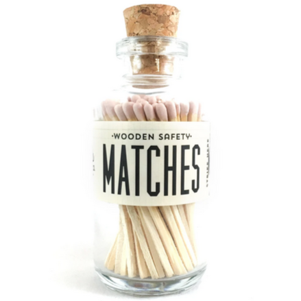 Light Pink Vintage Apothecary Matches - All She Wrote