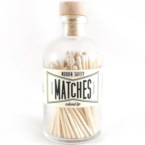 White Vintage Apothecary Matches - All She Wrote