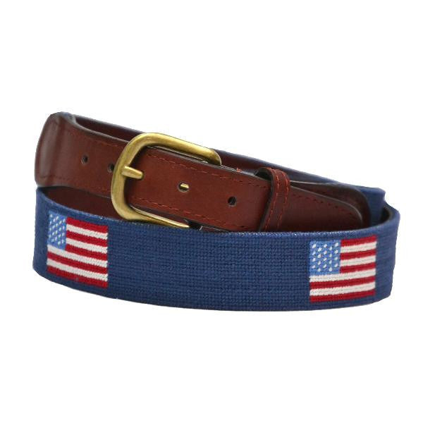 American Flag Needlepoint Belt - All She Wrote