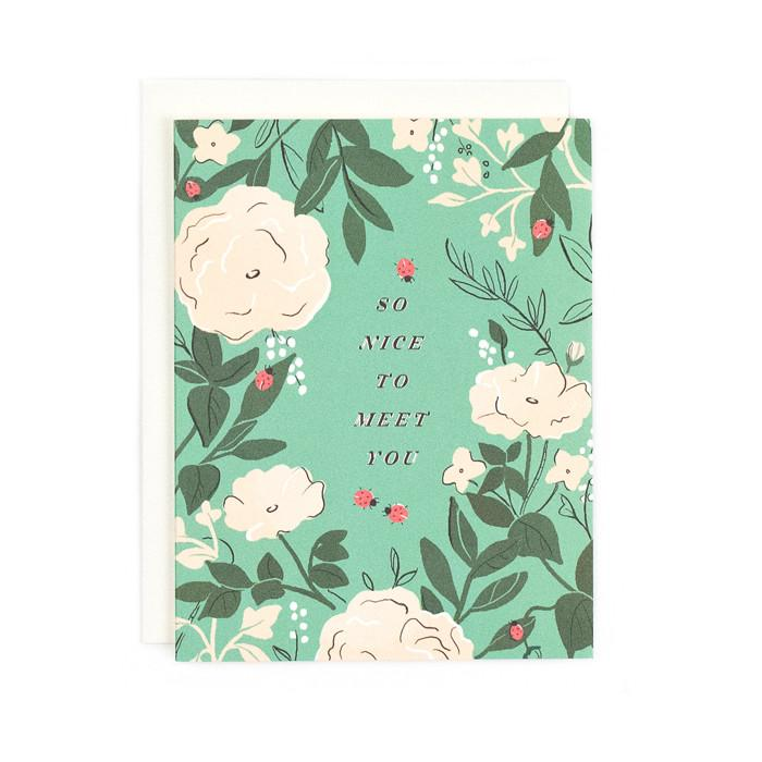 So Nice To Meet You Card - All She Wrote