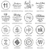 Circular Personalized Stamp - All She Wrote