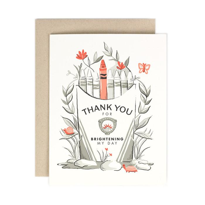 Crayon Box Thank You Card - All She Wrote