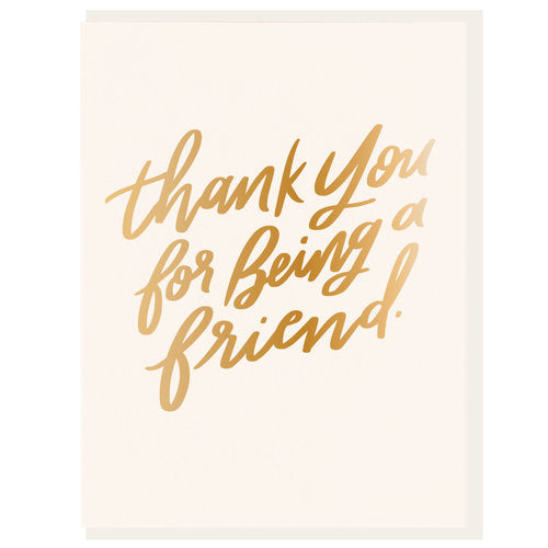 Thank You For Being a Friend Card - All She Wrote