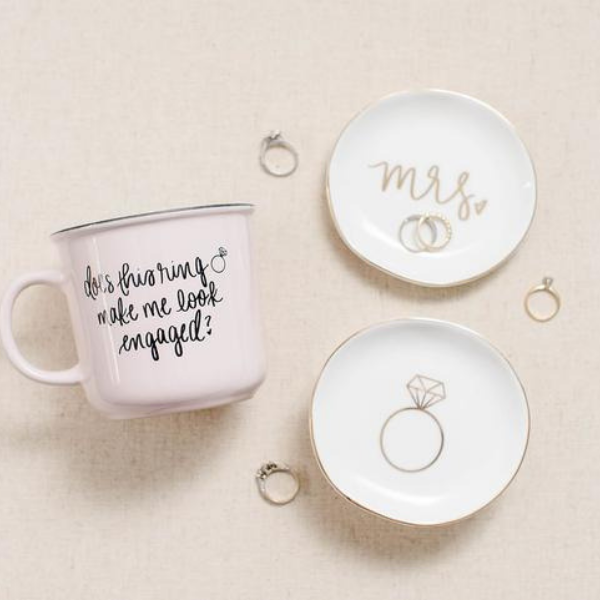 Engagement Ring Jewelry Dish - All She Wrote