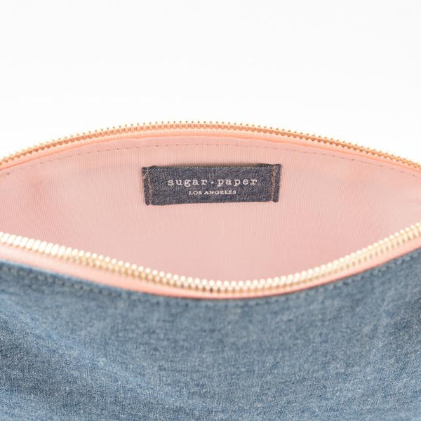 Chambray Pouch - All She Wrote